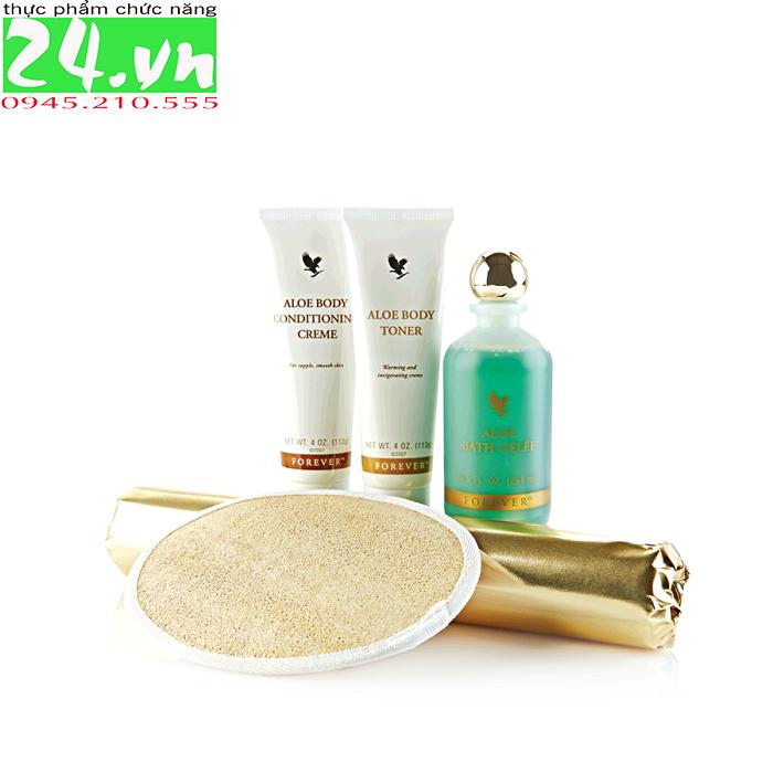 Aloe Body Toning Kit 055 Flp |Bộ mát xa làm thon gọn cơ thể Lô Hội Aloe Vera