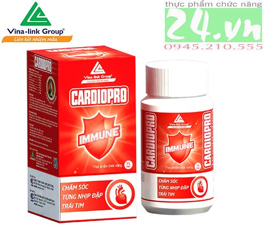 Thực phẩm chức năng CARDIOPRO Plus giúp tim mạch khỏe mạnh của VINA-LINK