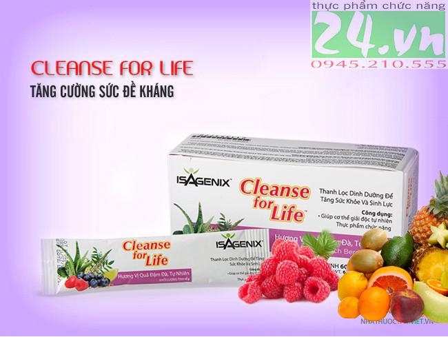 Hỗ trợ thải độc Cleanse for Life của Isagenix chính hãng giá rẻ