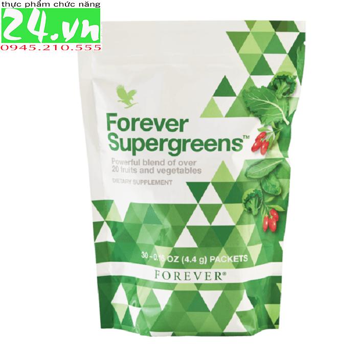 Forever Supergreens 621 Flp | 20 Loại Trái Cây và Rau Củ Các Loại