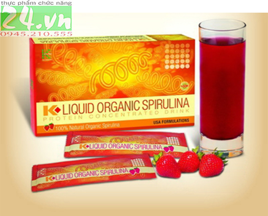 K-Liquid Organic Spirulina - Tảo spirulina Klink chinh hãng giá rẻ