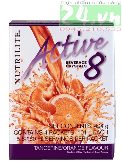 Thực phẩm bổ sung Bột hòa tan Nutrilite Active 8 – Vị Cam, active 8 amway giá rẻ