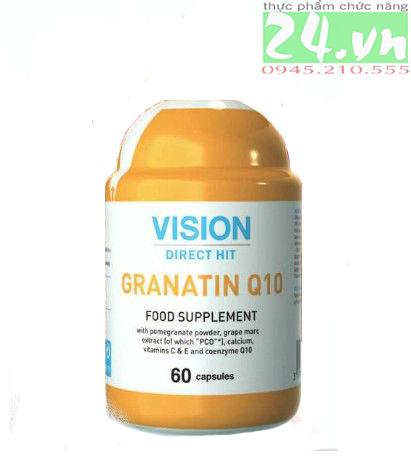 Thực phẩm chức năng  GRANATIN Q10 của  VISION chính hãng giá rẻ