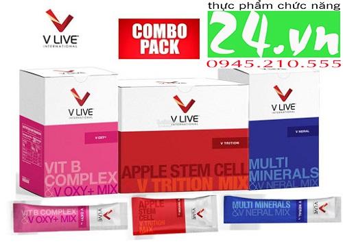 Bộ 3 siêu dinh dưỡng V live: V-trition, V OXY+, V-Neral