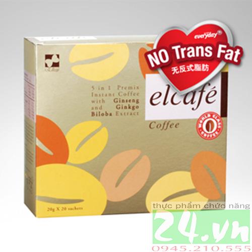 Cafe Elcafe Ginseng Elken giá rẻ - Cafe nhân sâm và bạch quả elken