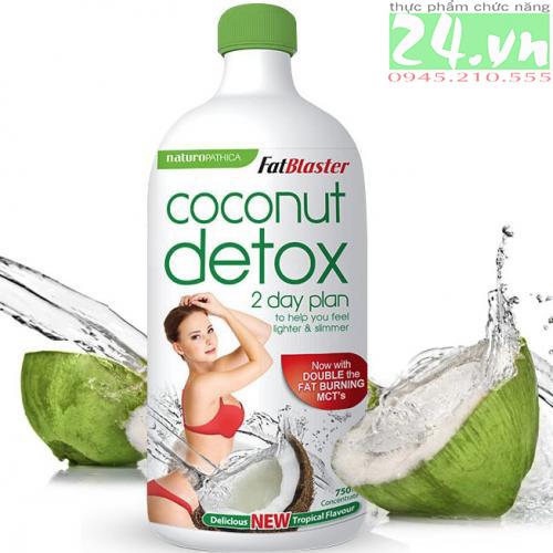 Coconut Detox - Thanh lọc cơ thể và giảm cân hiệu quả