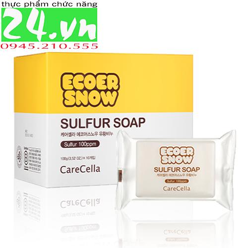 Xà phòng lưu huỳnh ECOER SNOW / CareCella Ecoer Snow Sulfur Soap