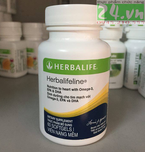 Herbalifeline Omega-3 Dinh dưỡng cho tim mạch chính hãng,giá rẻ