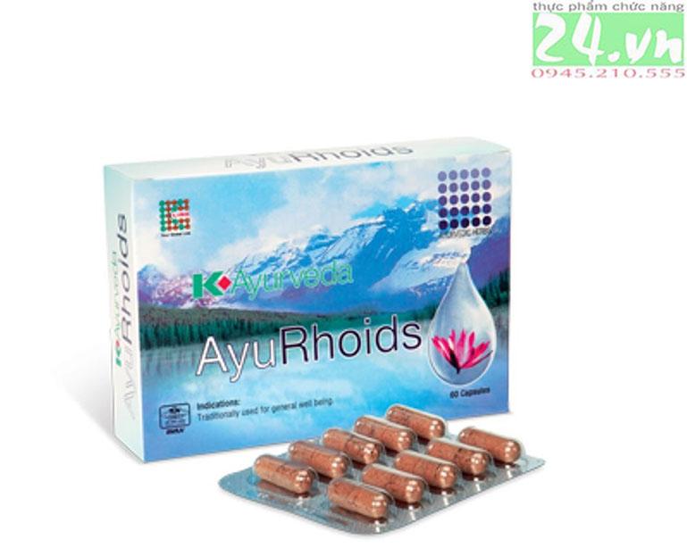 AyuRhoids - giảm nguy cơ và hỗ trợ điều trị bệnh trĩ chính hãng giá rẻ