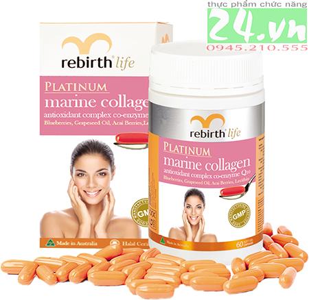 Viên uống Rebirth Platinum Marine Collagen Chống lão hóa