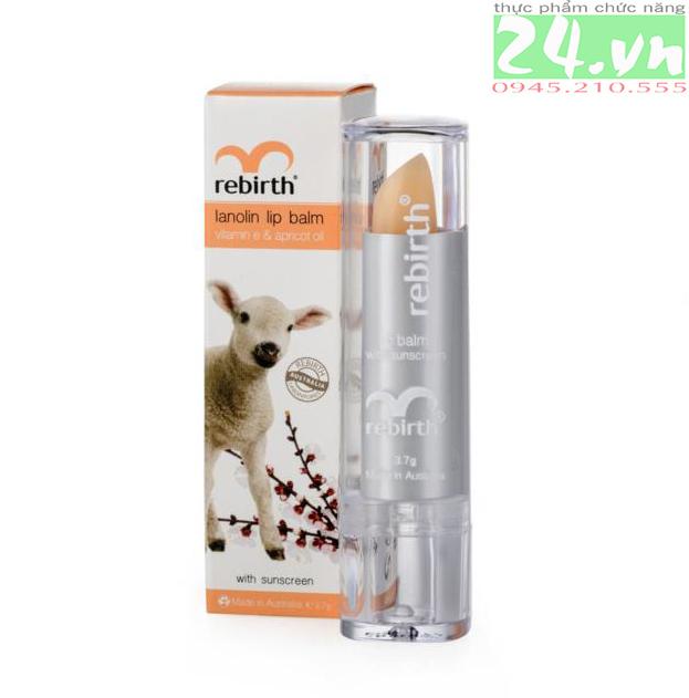 Son dưỡng môi Cừu Rebirth giàu Vitamin E chính hãng giá rẻ