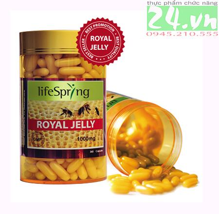 Viên Uống Sữa Ong Chúa LifeSpring Royal Jelly 1000 Mg - Lanopearl Chính hãng giá rẻ