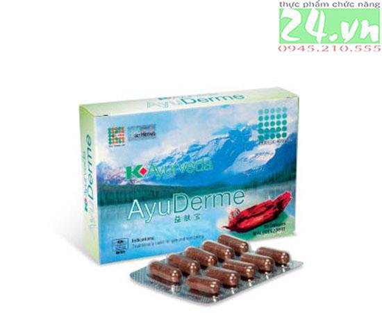 AyuDerme hỗ trợ giảm dị ứng ngừa mụn nhọt chính hãng giá rẻ