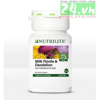 Thực phẩm chức năng bảo vệ gan Nutrilite Milk Thistle & Dandelion giá rẻ, bảo vệ gan amway giá rẻ