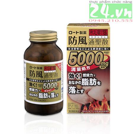 Viên uống giảm cân , giảm mỡ bụng Rohto 5000mg của Nhật Bản